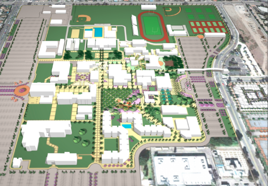 Rendering of OCC's campus plans (Vision 2020)
