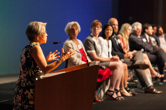 Susan Chin, Executive Director of Design Trust for Public Space and the jury. (Courtesy William Michael Fredericks)