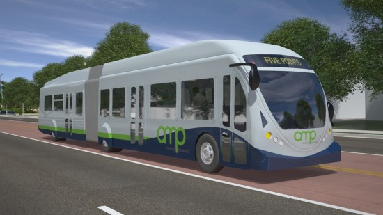 AMP, Nashville's proposed BRT system.  (Courtesy Transit Alliance of Middle Tennessee)