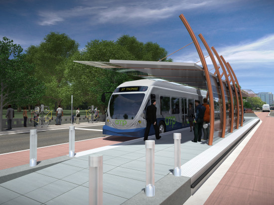 A proposed station in the AMP system. (Courtesy Transit Alliance of Middle Tennessee)