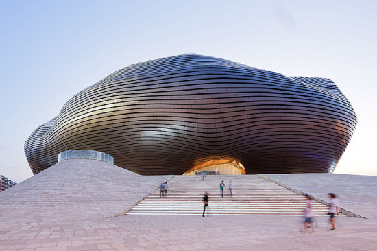 The Ordos Museum in Inner Mongolia, by MAD Architects. (Iwan Baan)