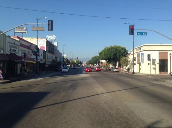 Figueroa Street at Avenue 57 (Sam Lubell/ AN)