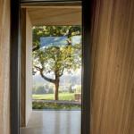 The building's massing frames views of the surrounding landscape. (Jeremy Bittermann)