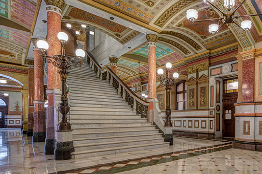 The Illinois State Capitol's west wing, restored by John Vinci's firm. (Tom Rossiter, courtesy Vinci Hamp Architects)