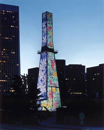 The Tower of Hope at night (Venoco Beverly HIlls)