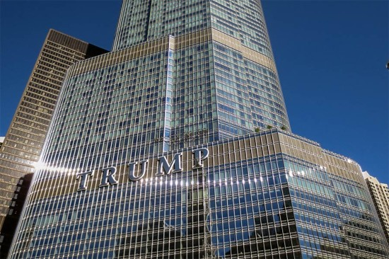Chicago's Trump Tower and its notorious sign. (edward stojakovic / Flickr)