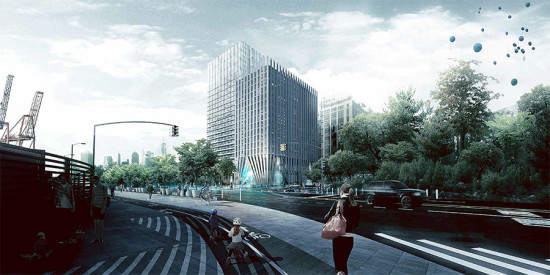 Proposal from Alloy Design + Bjarke Ingels Group. (Courtesy Alloy Design + Bjarke Ingels Group)