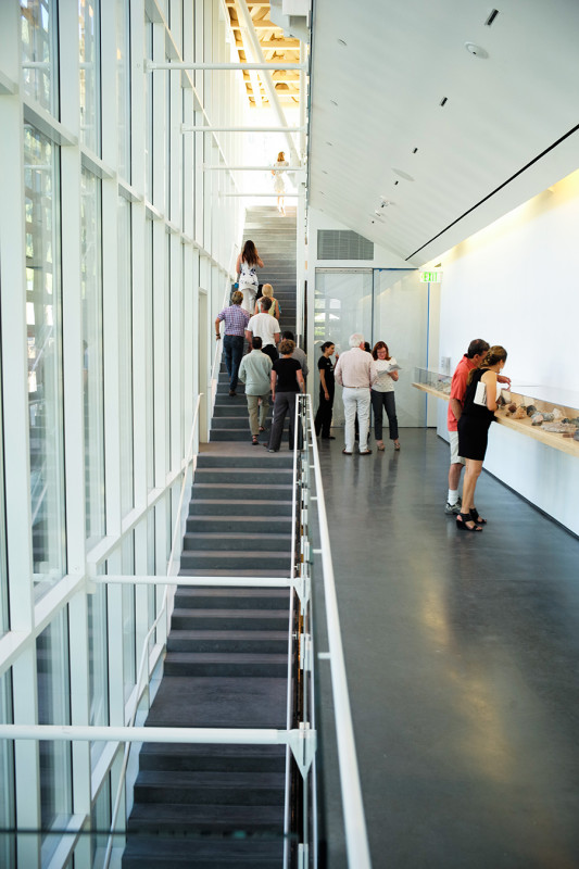 The inner stair provides direct access to the gallery spaces. (Courtesy AAM)