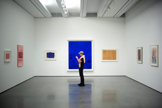 Works of Yves Klein graced one of the galleries for the opening. (Courtesy AAM/David X Prutting)