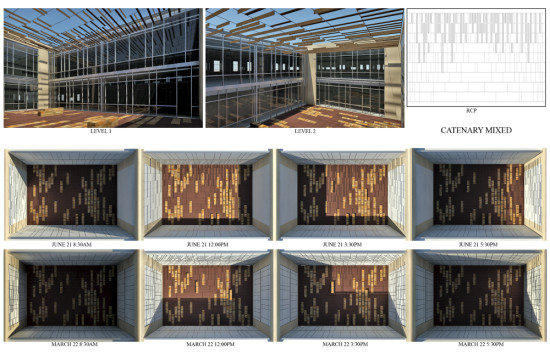The architects used daylighting analysis to determine the placement of the boards. (Courtesy Page)