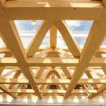 A detail of the timber space frame of the museum's roof. (Courtesy AAM)