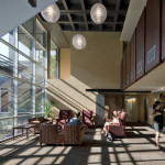 Daylight filters into public areas through strategically-placed glazing. (Bill Timmerman)