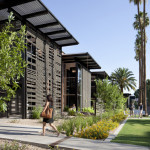The designers reduced the complex's footprint by 20 percent and preserved 5,000 square feet of green open space. (Bill Timmerman)