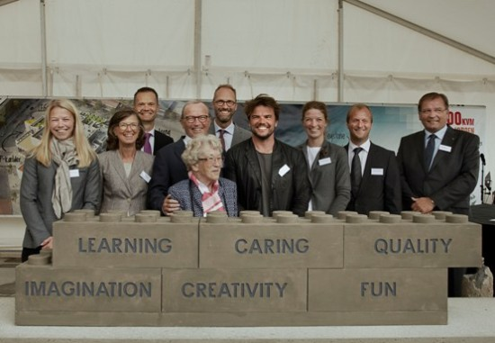 Ingels and the LEGO team at the recent groundbreaking. (Courtesy LEGO Group)
