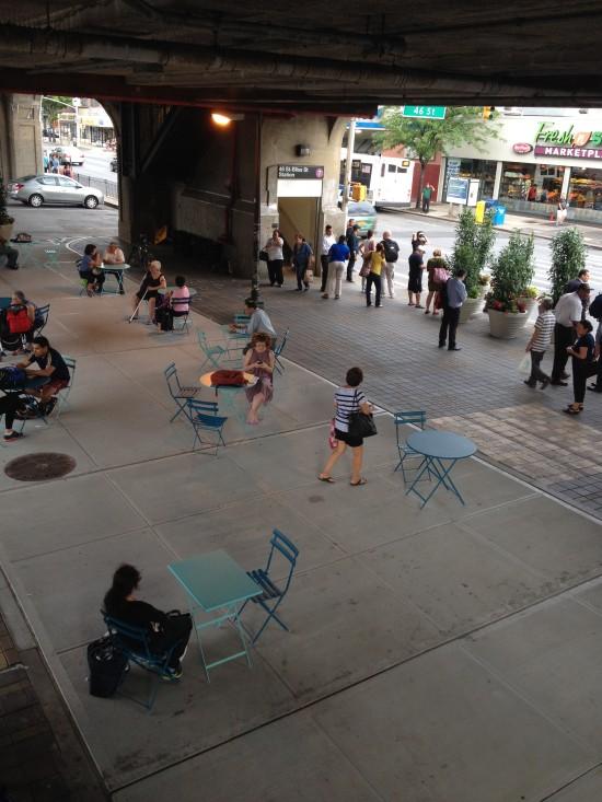 Bliss Plaza. (Courtesy NYC DOT)