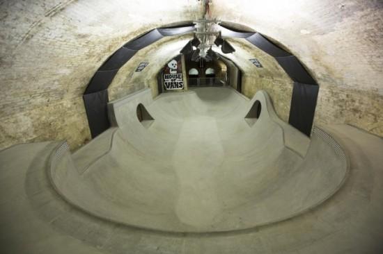 The skate park. (Courtesy House of Vans.)