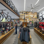 The architects imagined the store as a gallery for bicycles. (Timmerman Photography)