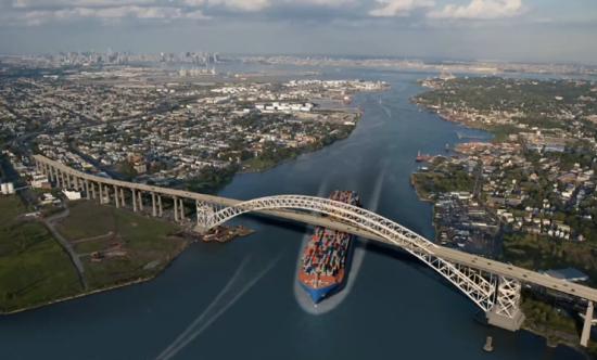 The finished bridge. (Courtesy Port Authority)