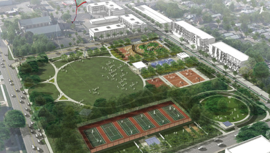Tarkington Park is the subject of a redesign aimed at catalyzing neighborhood development and curbing crime. (Courtesy Rundell Ernesterberger Associates)