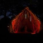 Buru Buru is lit by LEDs at night.