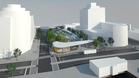 Fordham Plaza. (Courtesy NYC Department of Transportation)