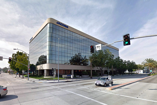 The Jacobs Engineering Building in Pasadena. (Courtesy Google)
