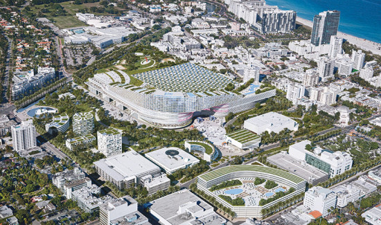 Aerial view of OMA's plan. (Courtesy OMA)