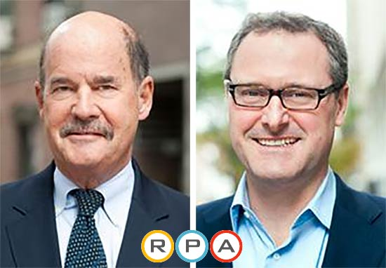 Robert Yaro, left, and Tom Wright, right. (Courtesy Regional Plan Association)
