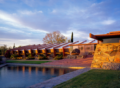 Talisen West Studio and Reflecting Pool (Judith Bromley)