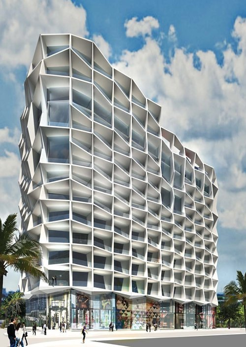 Gang's Miami tower. (Courtesy DACRA via Curbed Miami)