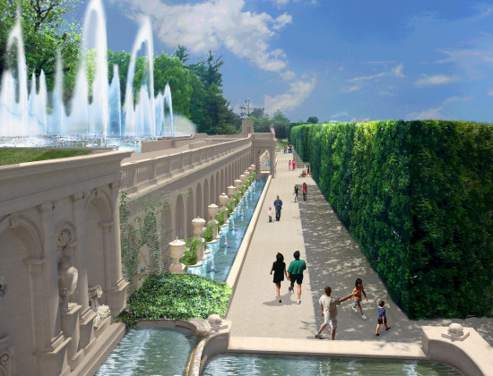 The Longwood Gardens revitalization project. (Courtesy Longwood Gardens)