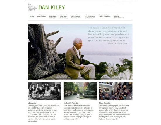 Website for retrospective. (Courtesy Aaron Kiley)