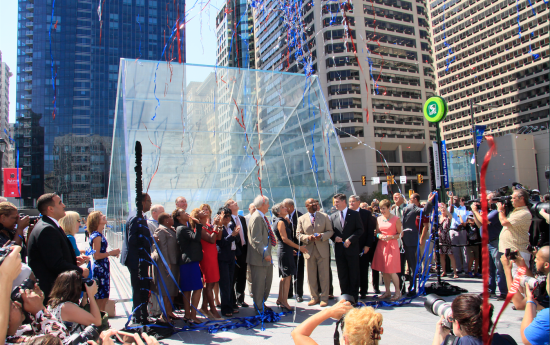 The ribbon cutting at Dilworth Park. (© OLIN / Sahar Coston-Hardy)