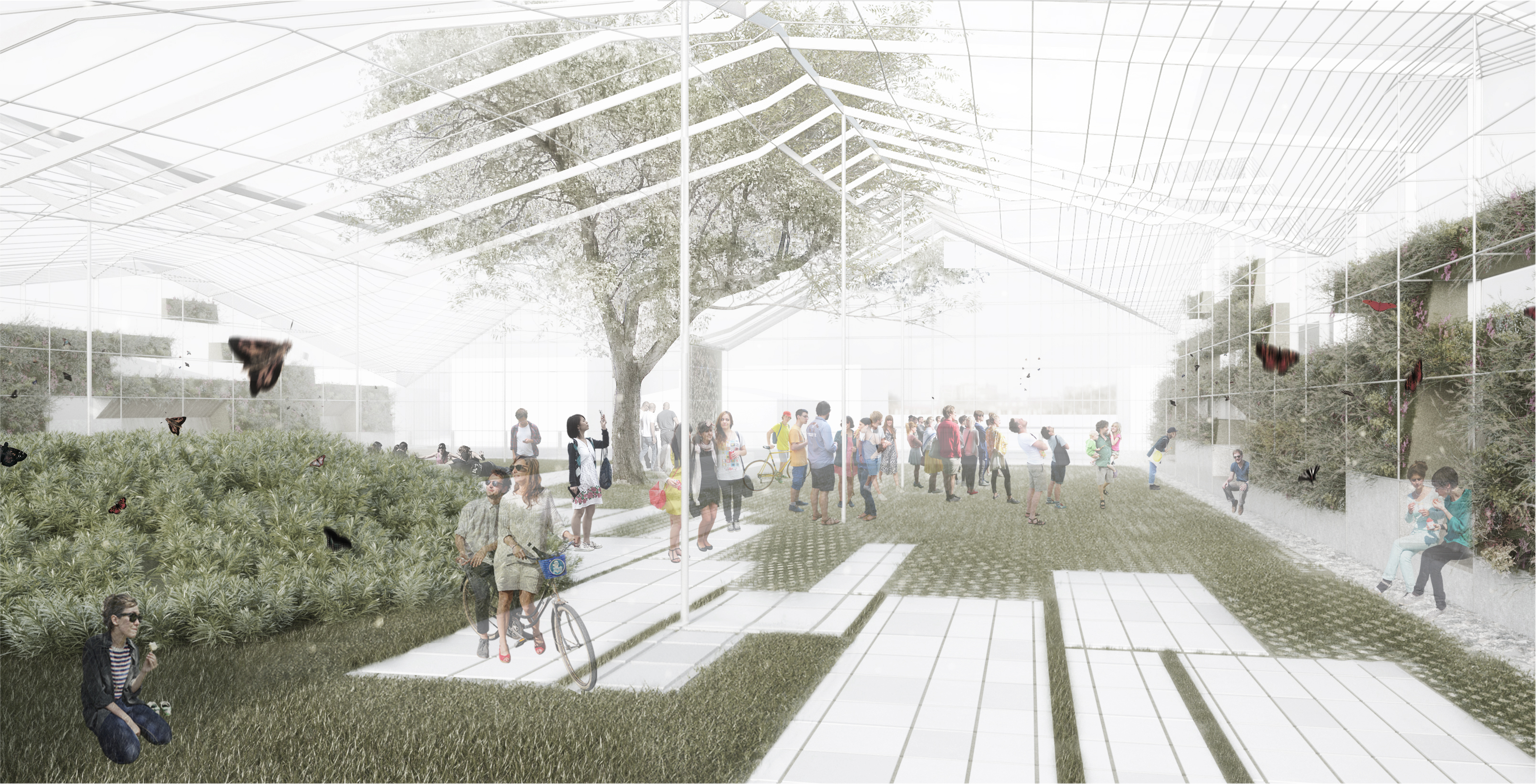 A Greenhouse Inspired Park To Bring New Public Space To