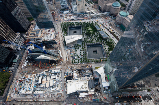 Aerial view of the site. (Courtesy Silverstein Properties)