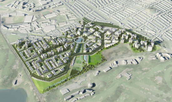 SOM's massive Park Merced development in San Francisco. (Courtesy SOM)