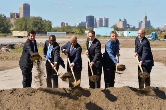 The groundbreaking ceremony in Buffalo. (New York Governor's Office)