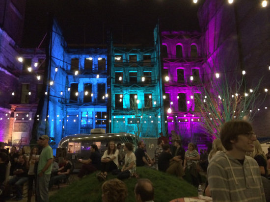 ReSurfaced, a pop-up festival occupying a vacant lot in downtown Louisville. (Urban Design Studio)