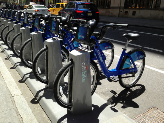 Citi Bike dock in NYC. (Flickr / shinya)
