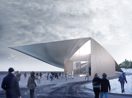 One of the submissions for the the Guggenheim's Helsinki campus. (Courtesy Malcolm Reading Consultants / The Guggenheim Foundation)