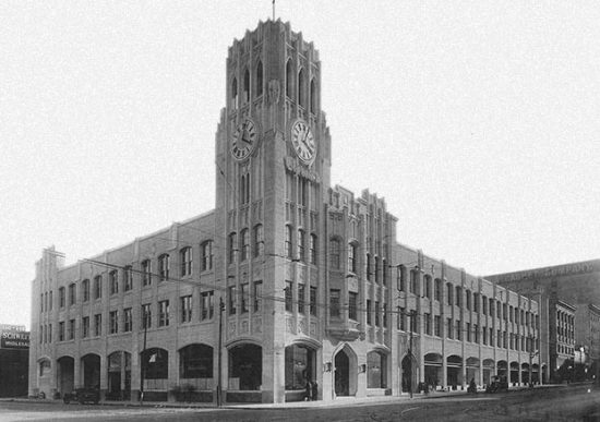 Historic photo of Chronicle Building at Fifth and Mission (Forest City)