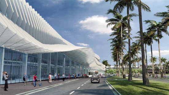 Miami Beach Convention Center. (Courtesy Fentress Architects / association with Arquitectonica)