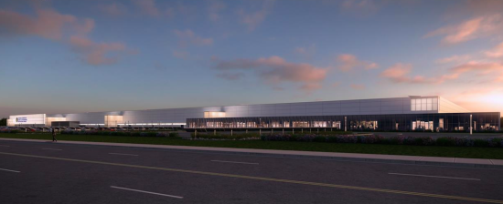 Rendering of the plant. (Courtesy SolarCity)