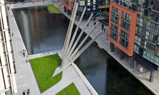 The Merchant Square Footbridge. (Edmund Sumner via Knight Architects)