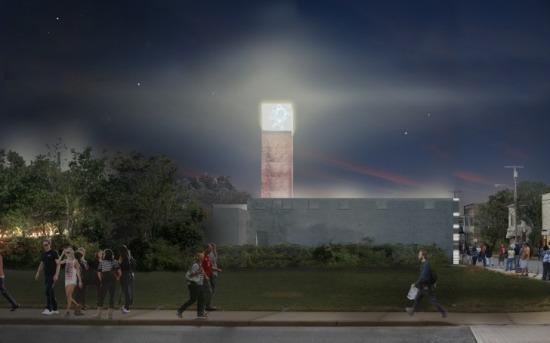 The site at night.  (Courtesy MABU Design)