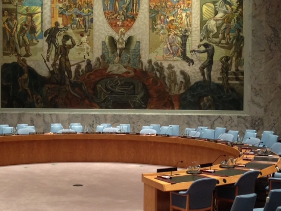 Security Council Table. (Henry Melcher / AN)