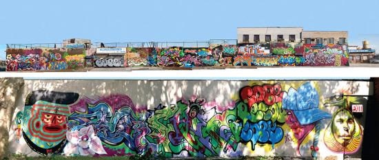 The demolished artwork along Boone Avenue. (Courtesy SLO Architecture)