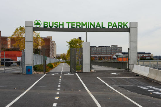 Park Entrance. (Courtesy NYC Parks Department)