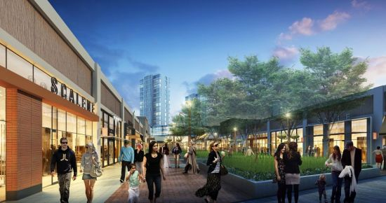 Rendering of new retail complex at Candlestick Point. (Lennar)