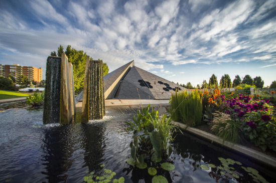 Inspired by honeycombs and plate tectonics, the new Science Pyramid houses the Denver Botanic Garden's research and conservation efforts. (Scott Dressel-Martin)